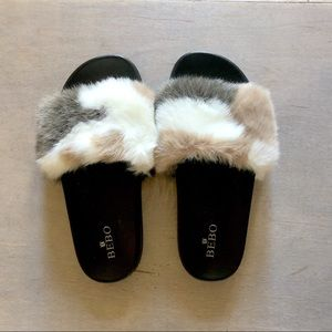 Shoes - Fuzzy slides